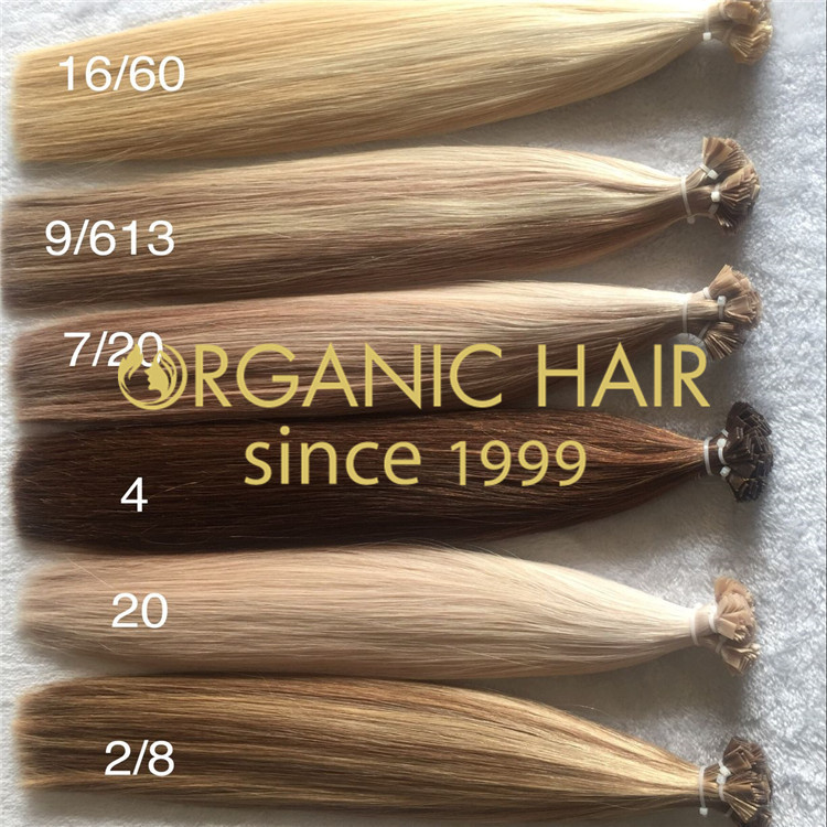 Flat-Tip Hair Extensions-Oganic Hair H166