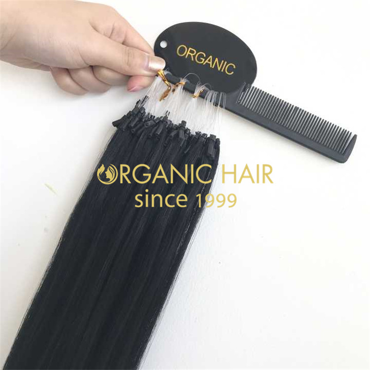 The best way to increase your hair without hurting : Micro Ring Hair Extensions H197