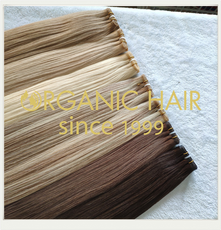 Most popular flat weft full cuticle hair extensions CNY010