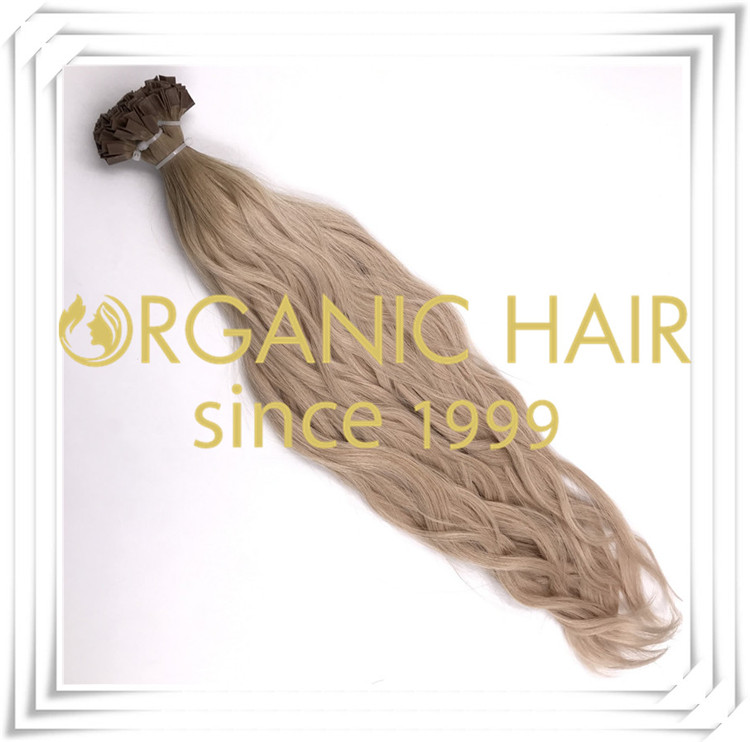 Natural straight V tip ombre color hair extension C004