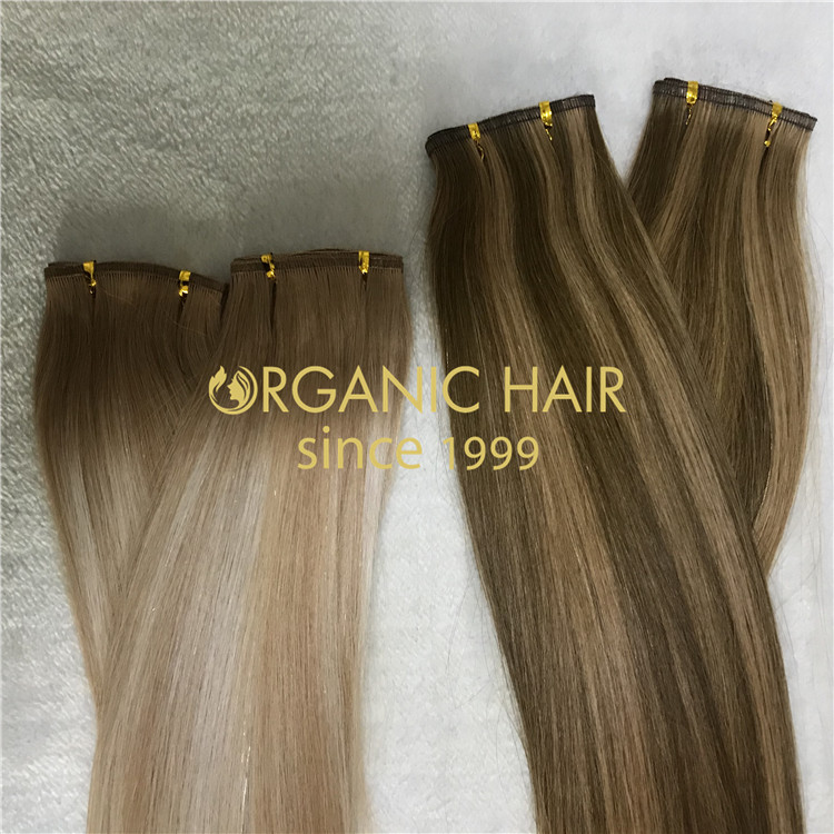highlighted ombre flat wefts for sale new hair extensions H139