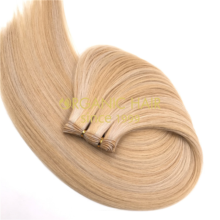 Wholesale customized piano color #16/60 hand tied wefts hair extensions X326