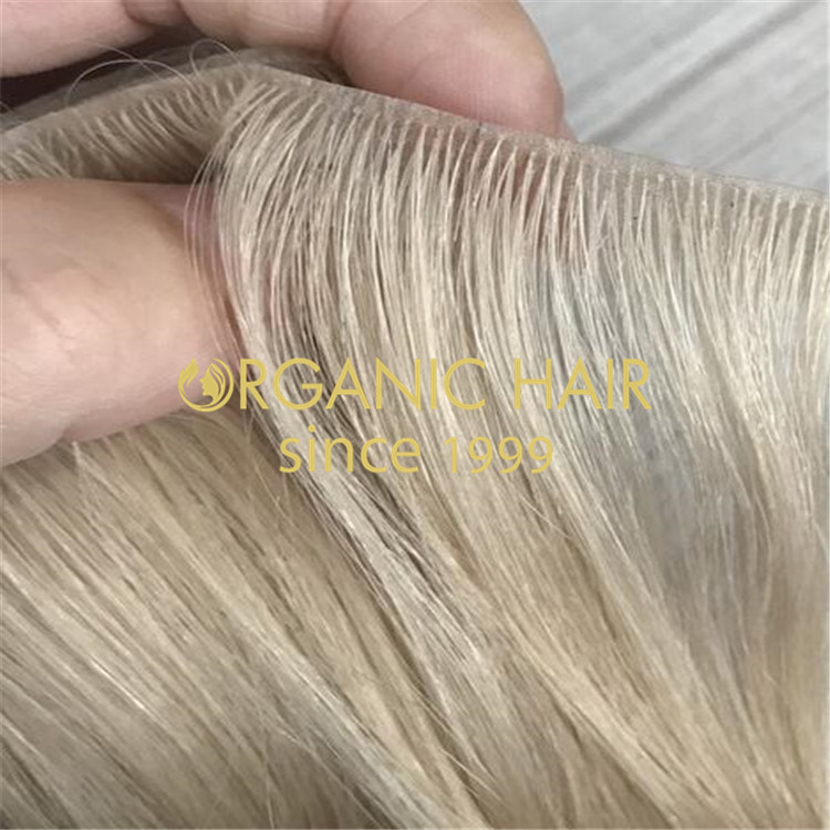 Premium pu skin weft-cuticle intact hair H173