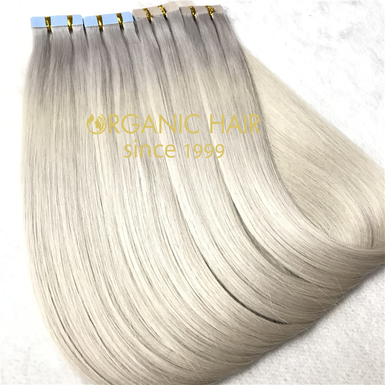 High quality human hair extensions--Tape in hair extensions C24