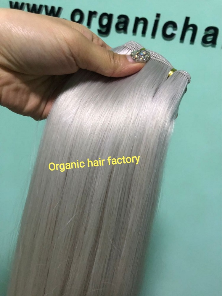 Hair extensions natural row hair method supplier color 60a RB12