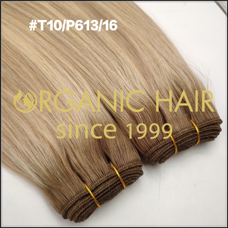 Single donor hair customized machine wefts  C084