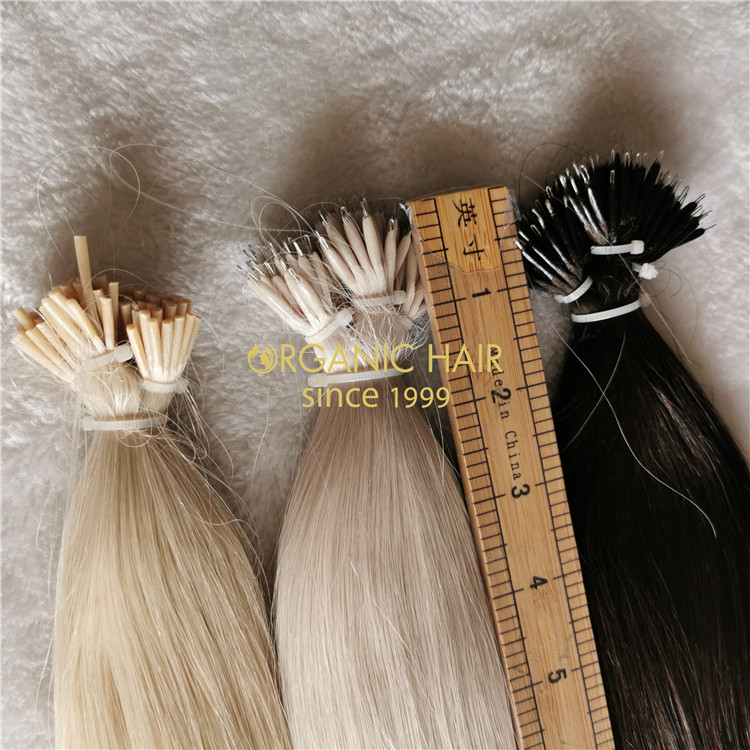 Stock best quality  nano tip and i tip hair A206