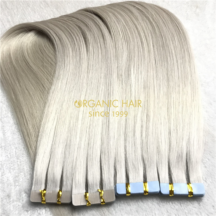Long lasting 40 pieces #1001 color tape in remy hair extensions and reviews X125