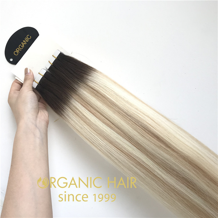 Wholesaler balayage color tape in hair extensions RB71