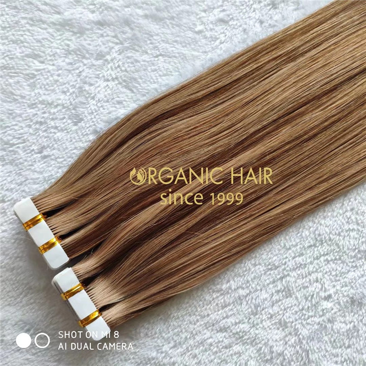 Full cuticle real human tape in hair extensions on sale A218