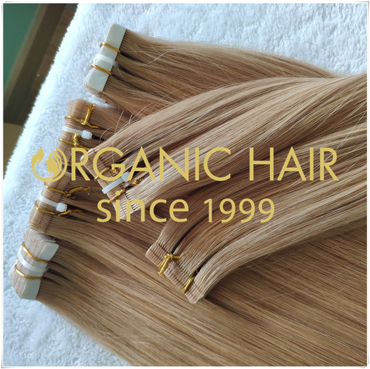 Tape in hair extensions human full cuticle hair CNY008