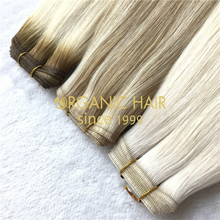 Top quality hair extensions to order-- Flat weft hair extensions C30