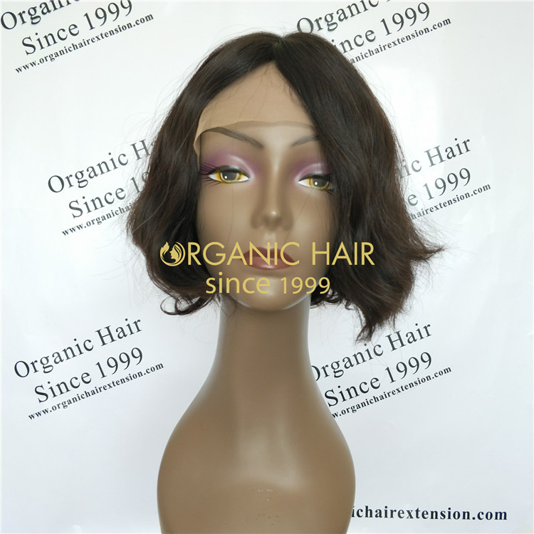 Wholesale factory price 100% European Hair short Jewish Kosher Wig  A22