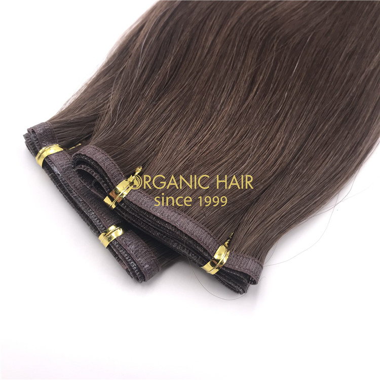 Wholesale hybrid flat wefts dark brown #2 color X305