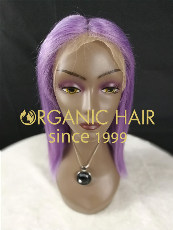 Human hair full lace wig online stores at wholesale price C8