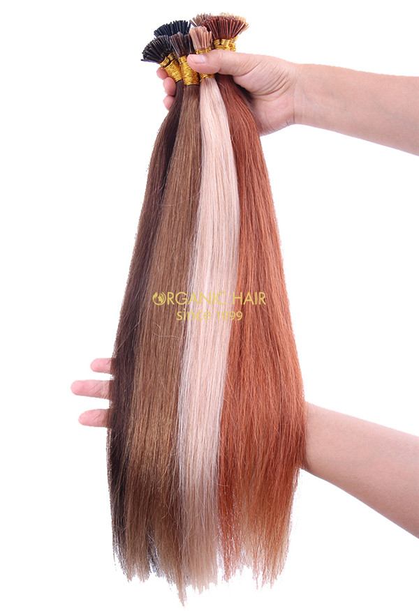 Virgin Human Hair I Tips Hair Extensiosn Piano Color All Length